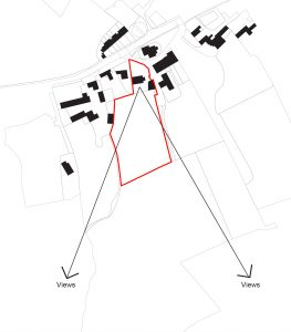 The Foxes, Aislaby, Whitby, North York Moors National Park. Plan view showing plot and views