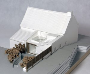 The Cottage, Sandsend, North Yorkshire Coast. Listed building extension and renovation. Isometric view of model