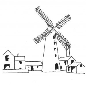 The Old Windmill, York. Process Diagram - Hatfield Woodhouse Mill