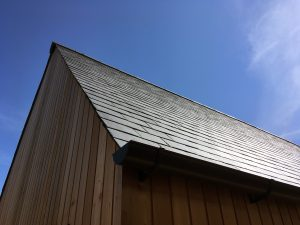 Millington Longhouse. Millington, East Riding of Yorkshire. Site Photo. Roof Edge Detail