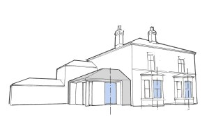 The Old Vicarage, Worlaby. Elevation Rhythm