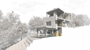 Ladywood Mead, Leeds. Proposed Sectional Perspective View