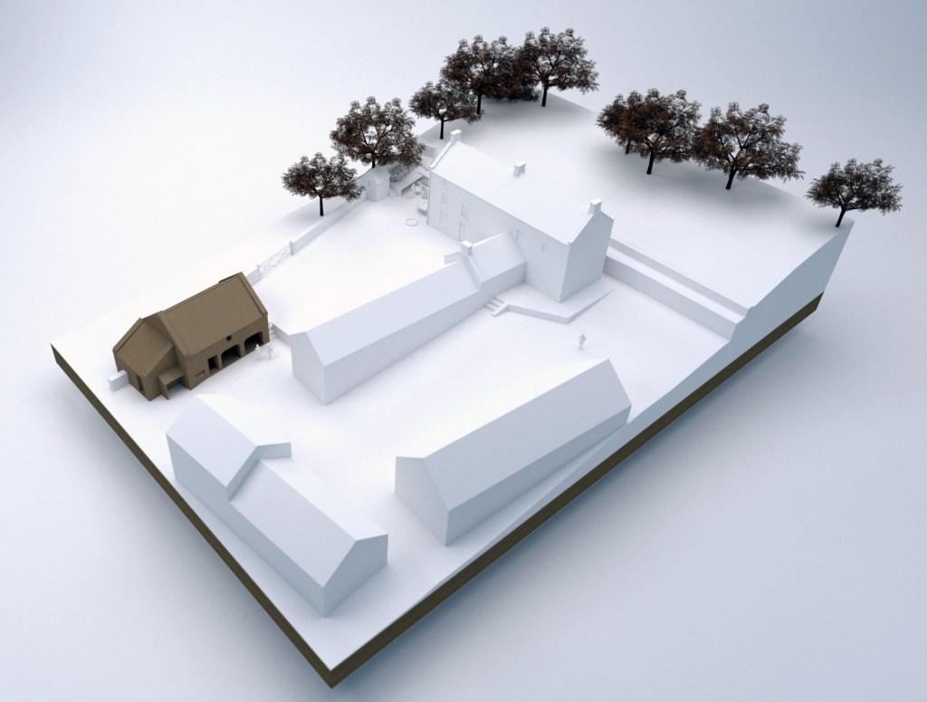 Forest Lodge Farm, Castleton. Site model